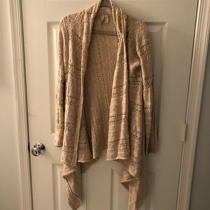 Tan Crochet sweater